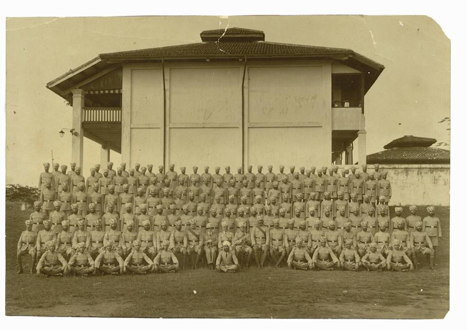 "A photo of the Sikh police contingent at Pearl's Hill Police Station in 1930, part of the ""Sikhs in Singapore – A Story Untold"" community exhibition to be held at the Indian Heritage Centre in March."