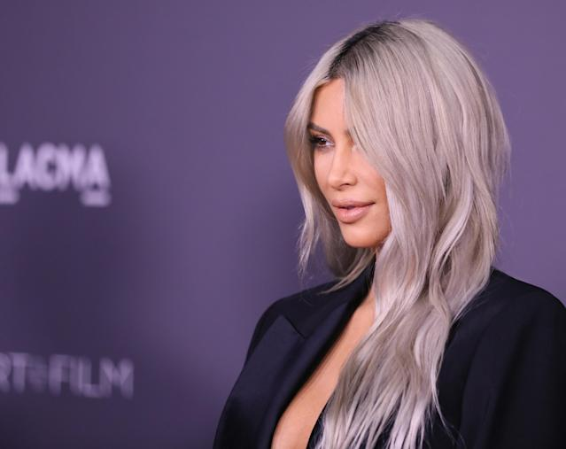 Kim Kardashian strikes a pose. (Photo: JB Lacroix/ WireImage)