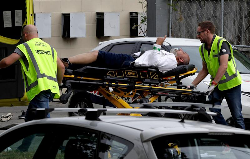 Police responded to mass shootings at mosques in Christchurch, New Zealand on Friday. (Photo: Mark Baker/ASSOCIATED PRESS)