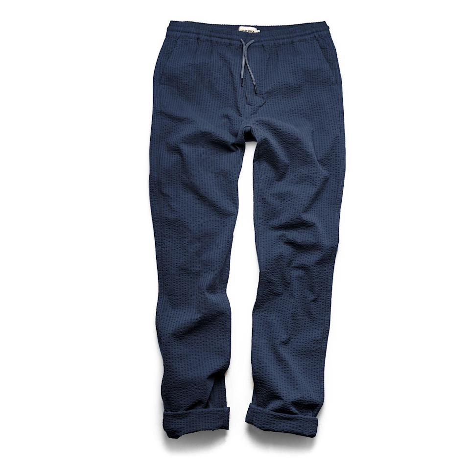 """<p><strong>Taylor Stitch</strong></p><p>huckberry.com</p><p><a href=""""https://go.redirectingat.com?id=74968X1596630&url=https%3A%2F%2Fhuckberry.com%2Fstore%2Ftaylor-stitch%2Fcategory%2Fp%2F66829-the-apr-s-pant-exclusive&sref=https%3A%2F%2Fwww.esquire.com%2Fstyle%2Fmens-fashion%2Fg37091978%2Fhuckberry-summer-sale-2021%2F"""" rel=""""nofollow noopener"""" target=""""_blank"""" data-ylk=""""slk:SAVE NOW"""" class=""""link rapid-noclick-resp"""">SAVE NOW</a></p><p><strong><del>$118</del> $94 </strong></p>"""