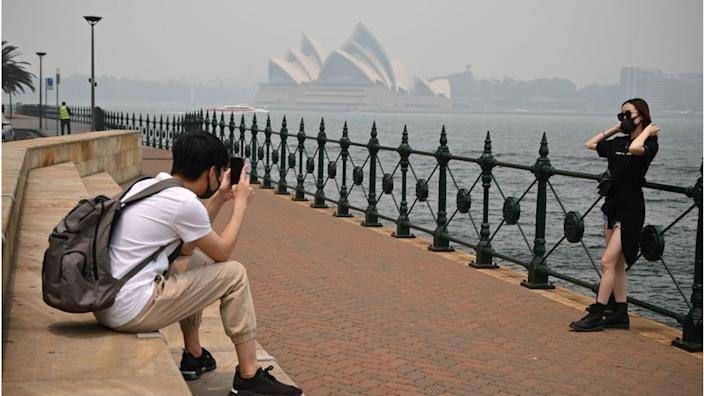 December 2019 saw tourists in Sydney don masks to cope with wildfire smoke