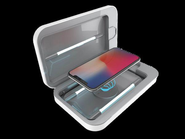 "This popular UV sanitizer cleans and charges your phone in 10 minutes. <a href=""https://fave.co/312cI6K"" target=""_blank"" rel=""noopener noreferrer"">Find it for $100 at Phonesoap</a>."