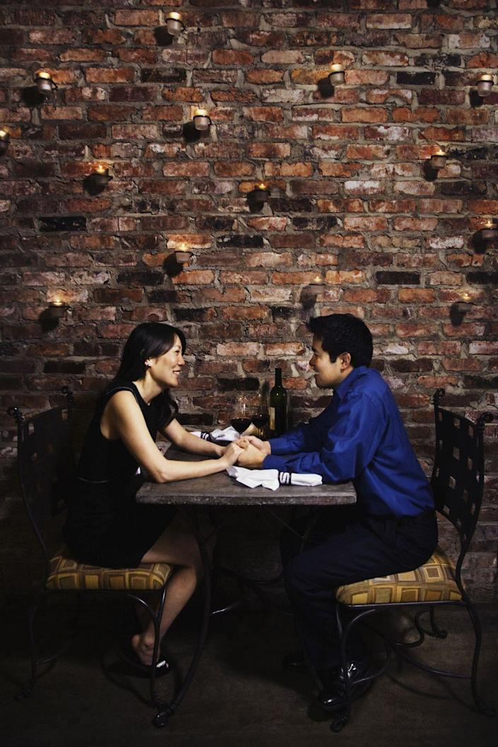 """<p><strong>Detroit, Michigan</strong></p><p>Take in the city skyline while holding hands with your sweetheart at <strong><a href=""""https://www.motorcitycasino.com/Iridescence.aspx"""" rel=""""nofollow noopener"""" target=""""_blank"""" data-ylk=""""slk:Iridescence"""" class=""""link rapid-noclick-resp"""">Iridescence</a></strong>. There are several reasons why it's won so many awards, but we're eager to try the shellfish tower and melting chocolate sphere. </p>"""