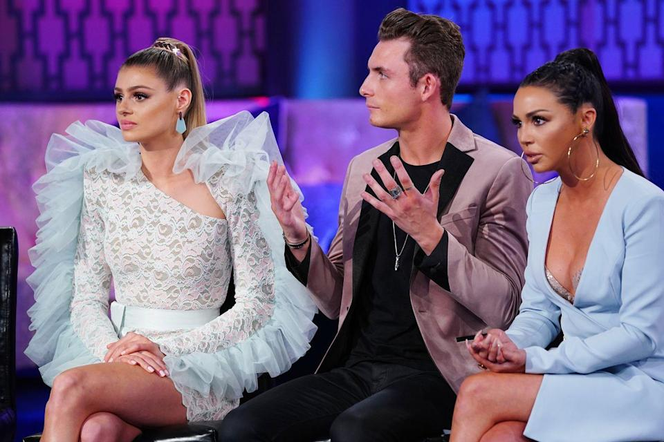 """<p>If you ask the cast members about their reunion look inspirations (and Bravo certainly has!), it's clear that they put some thought into their ensembles. However, producers <a href=""""https://www.youtube.com/watch?v=0A3S4AtipnU"""" rel=""""nofollow noopener"""" target=""""_blank"""" data-ylk=""""slk:have the final say"""" class=""""link rapid-noclick-resp"""">have the final say</a> on their outfits.</p>"""