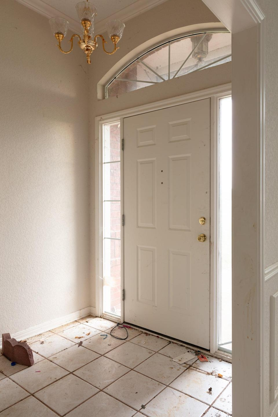 <p>Chip and Joanna loved the window-framed door, but decided the entire entryway still needed some major updates.</p>