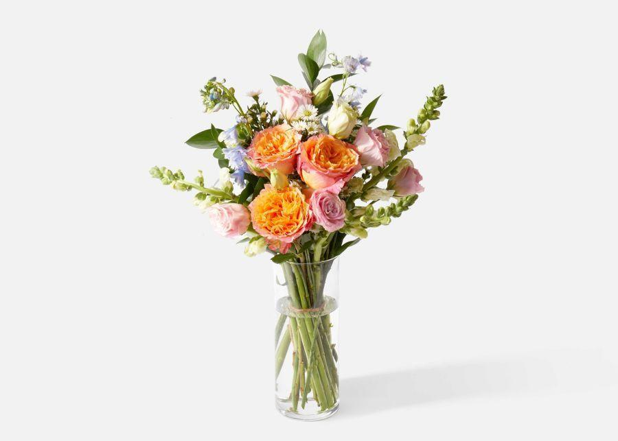 """<p>urbanstems.com</p><p><strong>$65.00</strong></p><p><a href=""""https://go.redirectingat.com?id=74968X1596630&url=https%3A%2F%2Furbanstems.com%2Fproducts%2Fflowers%2Fthe-juliet%2FFLRL-B-00080.html&sref=https%3A%2F%2Fwww.prevention.com%2Flife%2Fg35772381%2Fgifts-for-mom-from-son%2F"""" rel=""""nofollow noopener"""" target=""""_blank"""" data-ylk=""""slk:Shop Now"""" class=""""link rapid-noclick-resp"""">Shop Now</a></p><p>Flowers are a home run when it comes to Mother's Day gifts—and this delphinium, lisianthus, and rose bouquet, which signifies feelings of gratitude and love, is guaranteed to bring a smile to mom's face.</p>"""