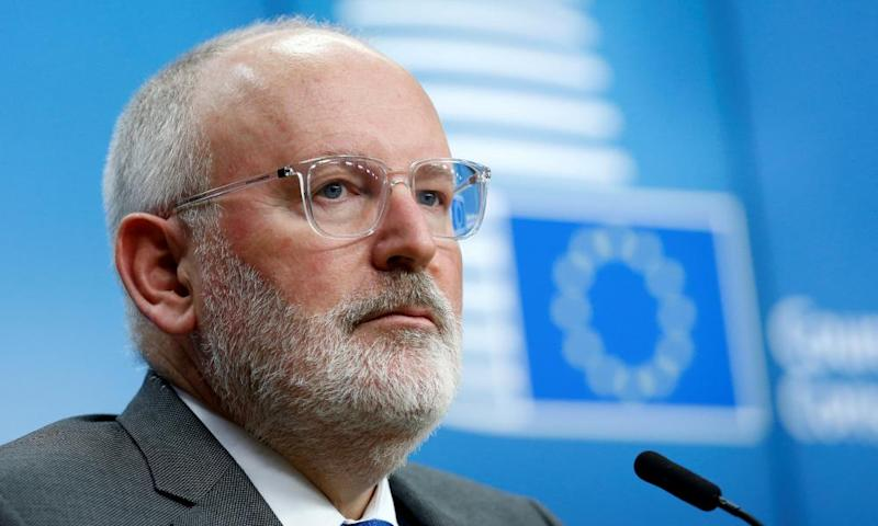 The European commission vice president, Frans Timmermans