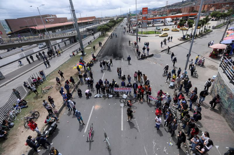 Anti-government demonstrations continue in Bogota