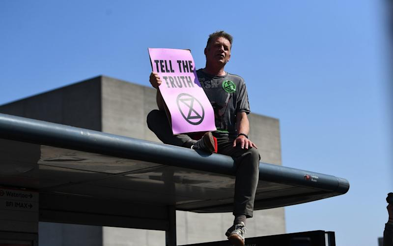 Chris Packham joined an Extinction Rebellion demonstration last year - Victoria Jones/PA