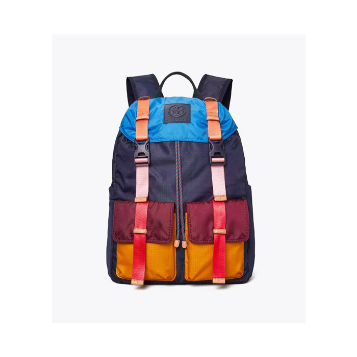 """Rounding out our list of cool backpacks for teens is this high-quality, sporty option that has compartments for every last one of your <a href=""""https://www.teenvogue.com/story/best-back-to-school-supplies?mbid=synd_yahoo_rss"""" rel=""""nofollow noopener"""" target=""""_blank"""" data-ylk=""""slk:school supplies"""" class=""""link rapid-noclick-resp"""">school supplies</a>. Seen here in navy, it also is available in white. $248, Tory Burch. <a href=""""https://www.toryburch.com/en-us/handbags/backpacks/ripstop-nylon-color-block-backpack/63965.html"""" rel=""""nofollow noopener"""" target=""""_blank"""" data-ylk=""""slk:Get it now!"""" class=""""link rapid-noclick-resp"""">Get it now!</a>"""