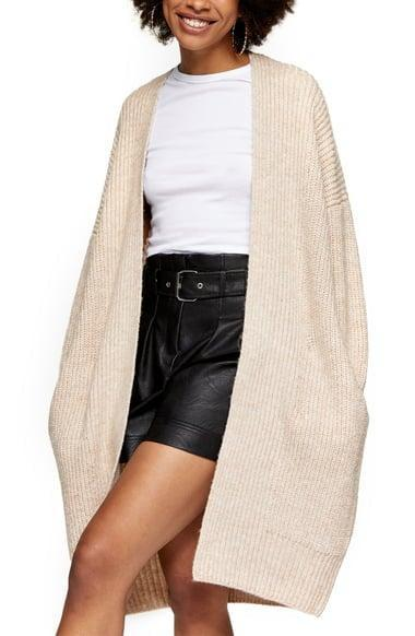 <p><span>Topshop Ribbed Open Front Cardigan</span> ($40, originally $68)</p>