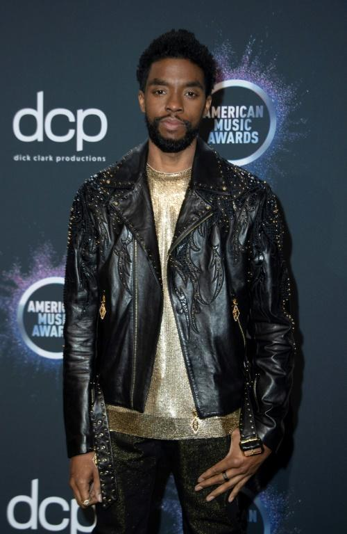US actor Chadwick Boseman -- seen here in November 2019 at the American Music Awards -- died in August 2020 of cancer
