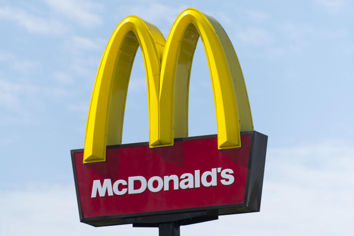 MERTHYR TYDFIL, UNITED KINGDOM - AUGUST 06: McDonald's Golden Arches sign seen on August 6, 2018 in Merthyr Tydfil, United Kingdom. (Photo by Matthew Horwood/Getty Images)