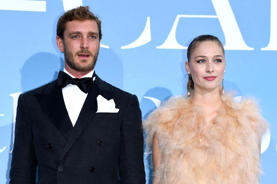 Beatrice Borromeo has been named by Tatler as Europe's 'most stylish royal', pictured with her husband, Pierre Casiraghi, in September 2018 in Monte-Carlo, Monaco.