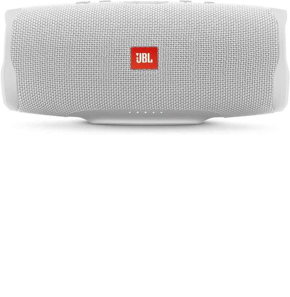 """<p><strong>JBL</strong></p><p>amazon.com</p><p><strong>$139.95</strong></p><p><a href=""""https://www.amazon.com/JBL-Portable-Waterproof-Wireless-Bluetooth/dp/B07HKQ6YGX?tag=syn-yahoo-20&ascsubtag=%5Bartid%7C10054.g.34313481%5Bsrc%7Cyahoo-us"""" rel=""""nofollow noopener"""" target=""""_blank"""" data-ylk=""""slk:Buy"""" class=""""link rapid-noclick-resp"""">Buy</a></p><p><strong><del>$179.95</del> (22% off)</strong></p><p>Actually, a load of <a href=""""https://www.amazon.com/deal/a9e02286/ref=gbps_ulm_m-3_5112_a9e02286"""" rel=""""nofollow noopener"""" target=""""_blank"""" data-ylk=""""slk:JBL speakers, headphone, and earbuds"""" class=""""link rapid-noclick-resp"""">JBL speakers, headphone, and earbuds</a> are on sale right now. The Charge 4 just happens to be the most versatile: portable, waterproof, and loud.</p>"""