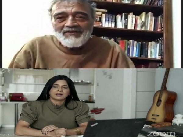 Indian singer Lucky Ali and Israeli singer of Indian descent Liora Itzhak during a Zoom meeting