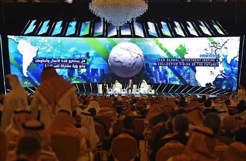 Saudi officials have sought to portray it as business as usual at the Future Investment Initiative in Riyadh, after a string of high profile cancellations following the murder of journalist Jamal Khashoggi (AFP Photo/FAYEZ NURELDINE)