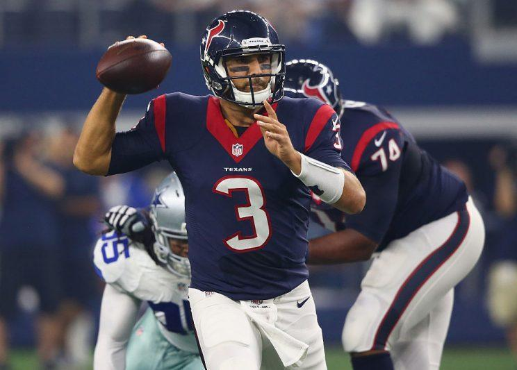 Tom Savage has replaced Brock Osweiler at QB. (Getty)