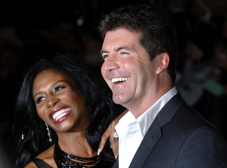 Sinitta with Simon Cowell during the National Television Awards 2005 (NTA), at the Royal Albert Hall, central London, Tuesday 25 October 2005. See PA story SHOWBIZ Awards. PRESS ASSOCIATION Photo. Photo credit should read: Steve Parsons/PA