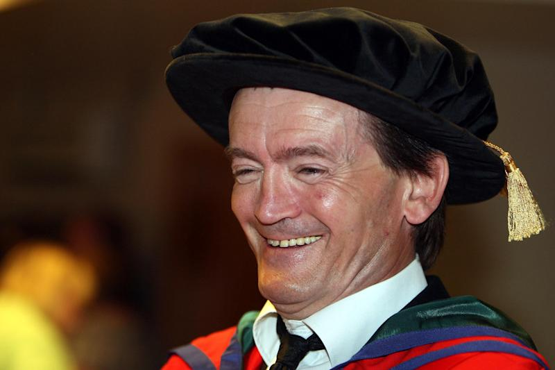 Former Undertones frontman Feargal Sharkey who was presented with an honorary degree by University of Ulster Chancellor James Nesbitt at a ceremony at the Waterfront Hall in Belfast. (Photo by Paul Faith/PA Images via Getty Images)