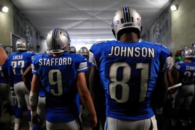 Calvin Johnson couldn't deal with the futility in Detroit. Matthew Stafford, however, sounds up to the challenge for now. (Getty)