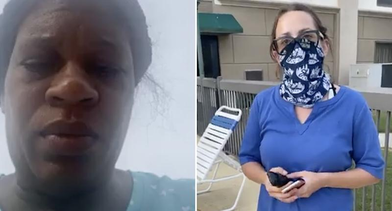 Missy Williams-Wright is pictured and a Hampton Inn employee is also pictured.