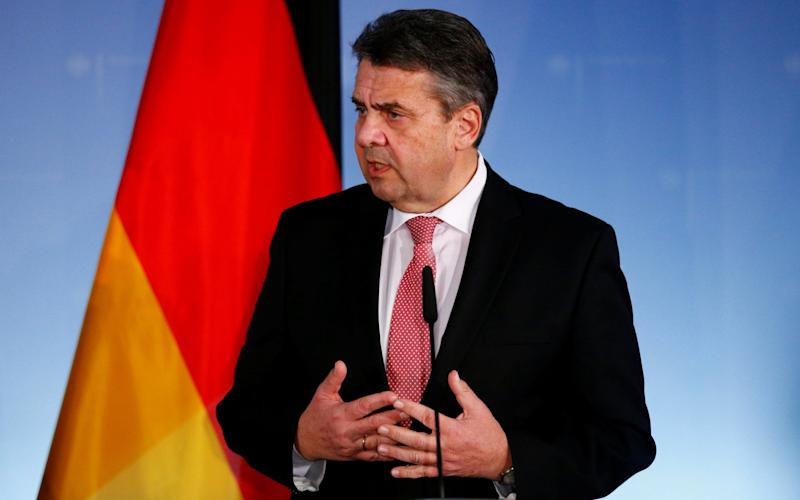 Sigmar Gabriel has had a broken relationship with the SPD's new leader - REUTERS