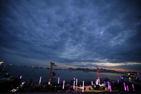 """General view ot the Nikki beach on the Croisette where the party for the film """"Welcome to New York"""" directed by Abel Ferrara will take place during the 67th Cannes Film Festival in Cannes May 17, 2014. REUTERS/Eric Gaillard"""