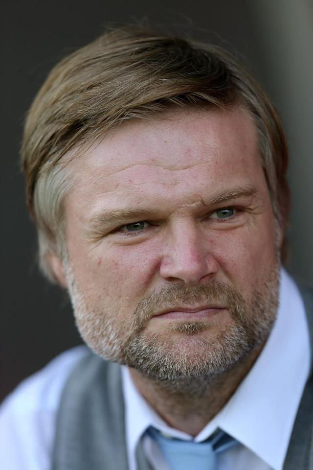 Coventry City's manager Steven Pressley before the start of the match during the Sky Bet League One match at Broadfield Stadium, Crawley.