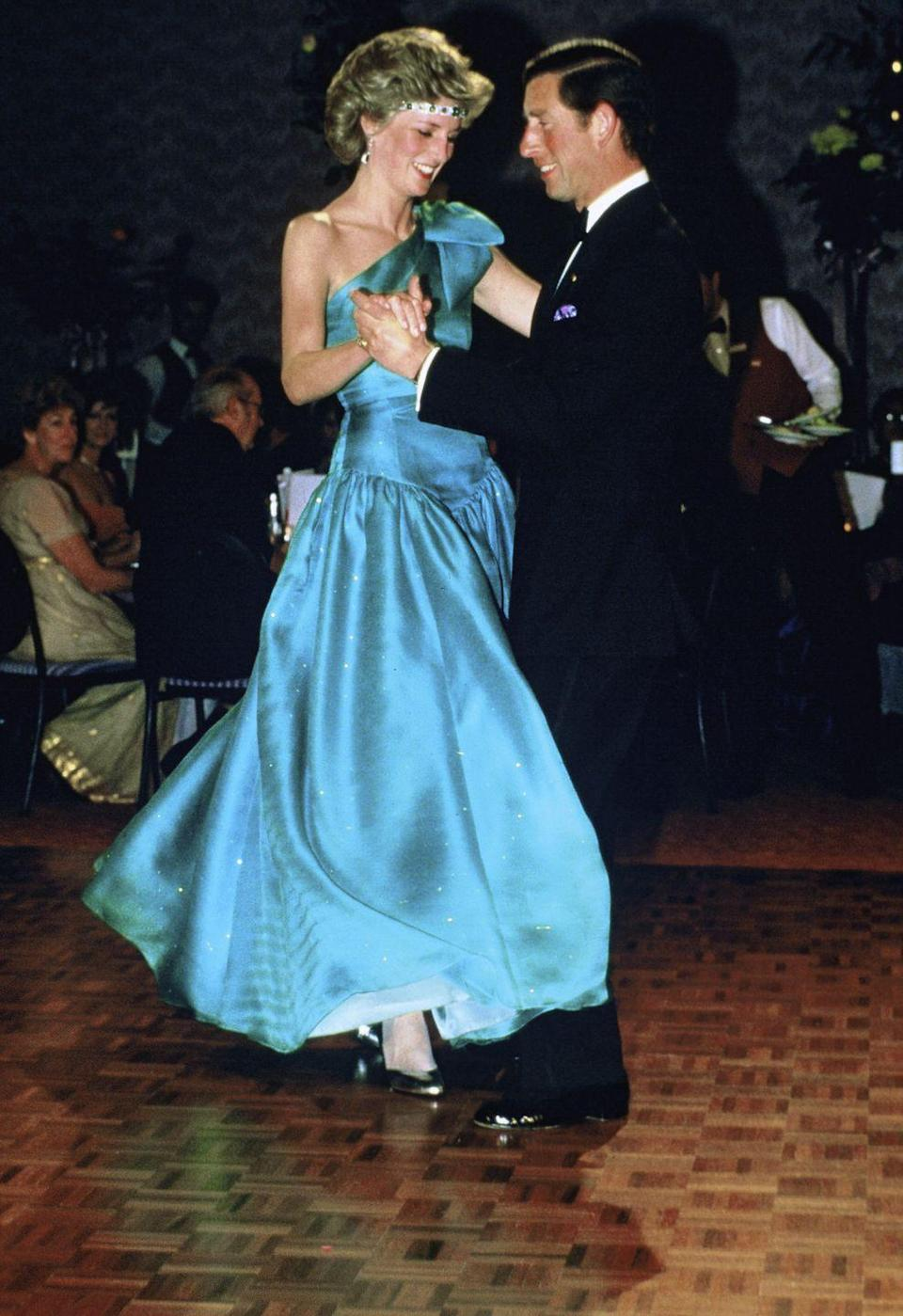 "<p>For a 1985 appearance in Melbourne, Australia, the <a href=""http://www.goodhousekeeping.com/life/entertainment/news/a36449/princess-diana-dresses-kensington-palace/"" rel=""nofollow noopener"" target=""_blank"" data-ylk=""slk:fashion icon"" class=""link rapid-noclick-resp"">fashion icon</a> accented her gown with an emerald-and-diamond choker — but she wore it as a tiara. We're pretty sure that wasn't quite how <a href=""http://www.goodhousekeeping.com/life/entertainment/news/a33950/queen-elizabeth-princess-diana-book/"" rel=""nofollow noopener"" target=""_blank"" data-ylk=""slk:the Queen"" class=""link rapid-noclick-resp"">the Queen</a>, who gave the necklace as a wedding gift, imagined the art deco treasure being displayed.<br></p>"