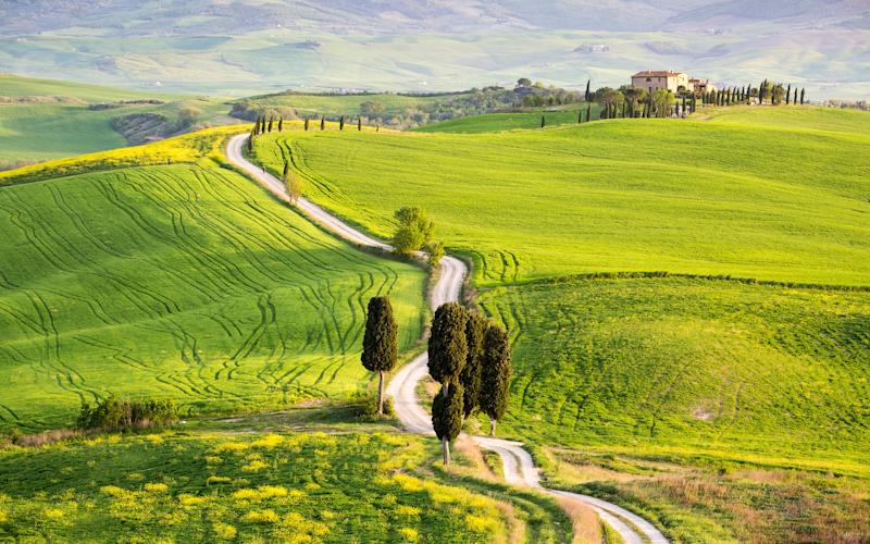 The Val d'Orcia, recognised by Unesco - This content is subject to copyright.