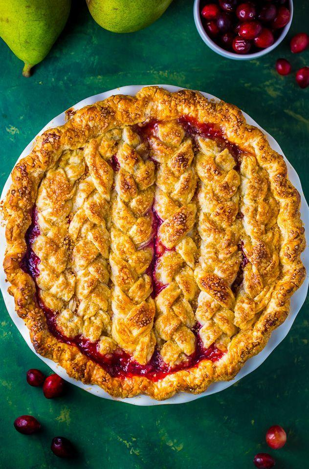 """<p><a href=""""https://www.countryliving.com/food-drinks/g4951/best-homemade-cranberry-sauce-recipes/"""" rel=""""nofollow noopener"""" target=""""_blank"""" data-ylk=""""slk:Cranberry sauce"""" class=""""link rapid-noclick-resp"""">Cranberry sauce</a> shouldn't be the only way you're eating the fruit this year. Just make sure you make this dish a little in advance—it requires six hours to set.</p><p><strong>Get the recipe at <a href=""""https://bakerbynature.com/cranberry-pear-pie/"""" rel=""""nofollow noopener"""" target=""""_blank"""" data-ylk=""""slk:Baker by Nature"""" class=""""link rapid-noclick-resp"""">Baker by Nature</a>.</strong> </p>"""