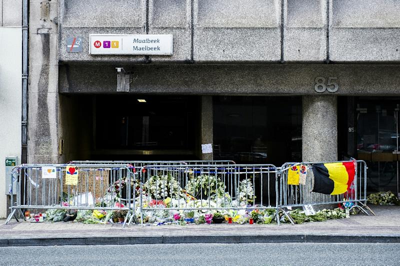 Maelbeek station in Brussels has been closed since Khalid El-Bakraoui detonated a bomb at 9:11 am on March 22 that killed 16 people on a train, part of coordinated attacks that hit the airport just over an hour earlier (AFP Photo/Laurie Dieffembacq)