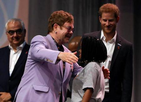 Prince Harry joins Elton John to launch HIV campaign targeting men