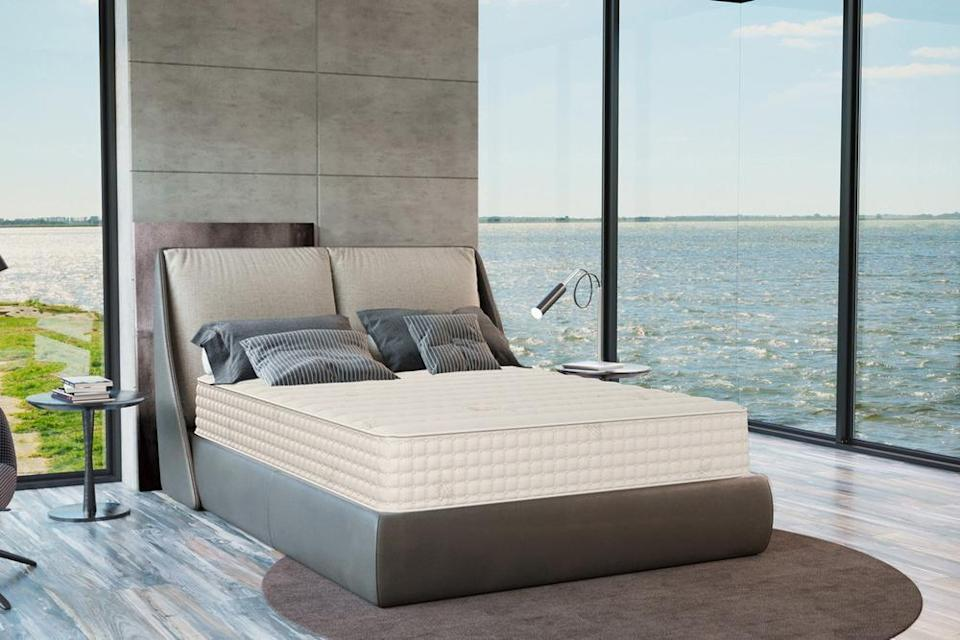 """<h3>Plush Beds</h3><br><strong>Dates:</strong> 11/30<br><strong>Deal: </strong>Get $1,250 off bedroom mattresses + a free luxury sheet set. 25% off all <a href=""""https://fave.co/2HZVvpm"""" rel=""""nofollow noopener"""" target=""""_blank"""" data-ylk=""""slk:mattress toppers"""" class=""""link rapid-noclick-resp"""">mattress toppers</a> and <a href=""""https://fave.co/33vkMze"""" rel=""""nofollow noopener"""" target=""""_blank"""" data-ylk=""""slk:bedding"""" class=""""link rapid-noclick-resp"""">bedding</a>.<br><strong>Promo Code: </strong>No code needed<br><strong><em><br></em></strong><em>Shop</em><strong><em> <a href=""""https://www.plushbeds.com/"""" rel=""""nofollow noopener"""" target=""""_blank"""" data-ylk=""""slk:Plush Beds"""" class=""""link rapid-noclick-resp"""">Plush Beds</a></em></strong><br><br><strong>Plush Beds</strong> Organic Latex Mattress: The Botanical Bliss®, $, available at <a href=""""https://go.skimresources.com/?id=30283X879131&url=https%3A%2F%2Fwww.plushbeds.com%2Fproducts%2Fthe-botanical-bliss-organic-latex-mattress%3Fvariant%3D18770038947938"""" rel=""""nofollow noopener"""" target=""""_blank"""" data-ylk=""""slk:Plush Beds"""" class=""""link rapid-noclick-resp"""">Plush Beds</a>"""