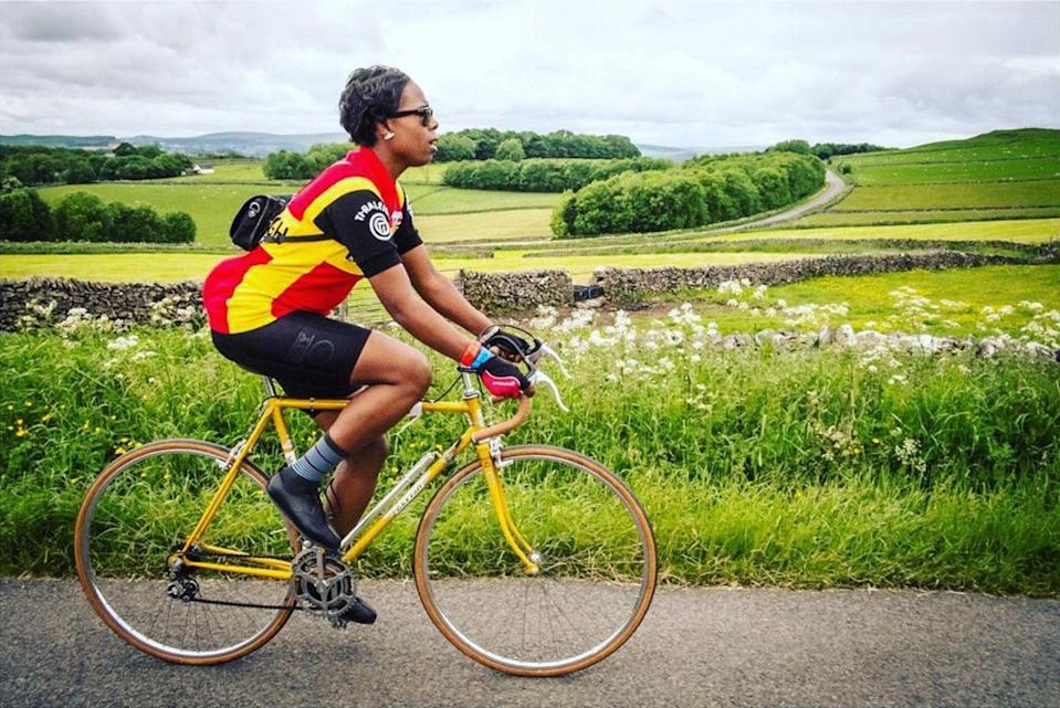 """<p><strong>Jools Walker, cyclist</strong> <a href=""""https://www.instagram.com/ladyvelo/"""" rel=""""nofollow noopener"""" target=""""_blank"""" data-ylk=""""slk:@ladyvelo"""" class=""""link rapid-noclick-resp"""">@ladyvelo</a></p><p>""""My stories is a narrative of my life on two wheels. Through my combination of positive images and words, I aim to redefine what the stereotype of 'cycling' is and use my voice to encourage other women to do the same. Instagram has given me a platform to show diversity in cycling does exist. It allows me to reach other to other everyday women and inspire them to get out there and ride, smash stereotypes along the way and encourage them to share their stories.""""</p> <span class=""""copyright""""><a href=""""https://www.instagram.com/ladyvelo/"""" rel=""""nofollow noopener"""" target=""""_blank"""" data-ylk=""""slk:@ladyvelo"""" class=""""link rapid-noclick-resp"""">@ladyvelo</a> </span>"""