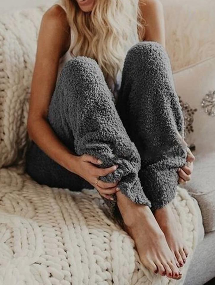 """<p>These insanely comfortable <a href=""""https://www.popsugar.com/buy/MarcoJudy-Cozy-Fuzzy-Fleece-Pajama-Pants-485270?p_name=MarcoJudy%20Cozy%20Fuzzy%20Fleece%20Pajama%20Pants&retailer=amazon.com&pid=485270&price=15&evar1=savvy%3Aus&evar9=46556687&evar98=https%3A%2F%2Fwww.popsugar.com%2Fsmart-living%2Fphoto-gallery%2F46556687%2Fimage%2F46557369%2FMarcoJudy-Cozy-Fuzzy-Fleece-Pajama-Pants&list1=shopping%2Cfall%2C50%20under%20%2450%2Caffordable%20shopping&prop13=mobile&pdata=1"""" rel=""""nofollow"""" data-shoppable-link=""""1"""" target=""""_blank"""" class=""""ga-track"""" data-ga-category=""""Related"""" data-ga-label=""""https://www.amazon.com/MarcoJudy-Womens-Fleece-Bottoms-Sleepwear/dp/B07JMCTW9Z/ref=sr_1_4?crid=T8O5GOU30XQH&amp;keywords=fuzzy%2Bpants%2Bfor%2Bwomen&amp;qid=1567018761&amp;s=gateway&amp;sprefix=fuzzy%2Bpants%2Caps%2C192&amp;sr=8-4&amp;th=1&amp;psc=1"""" data-ga-action=""""In-Line Links"""">MarcoJudy Cozy Fuzzy Fleece Pajama Pants </a> ($15) come in a few colors.</p>"""
