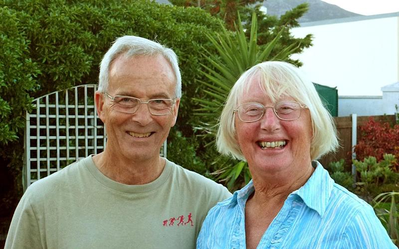 David and Rita Guthrie in Fish Hoek, South Africa  - David Guthrie