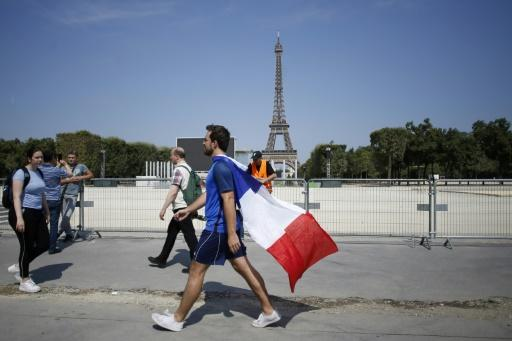 The biggest fanzone is in Paris, where 90,000 fans are expected to gather near the Eiffel Tower to watch the match