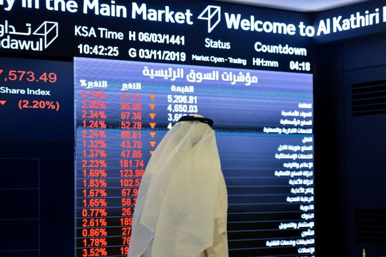 Saudi stocks have sagged as investors eager to own a piece of the kingdom's crown jewel, energy giant Aramco, sell other stocks to fund their subscriptions to its landmark IPO