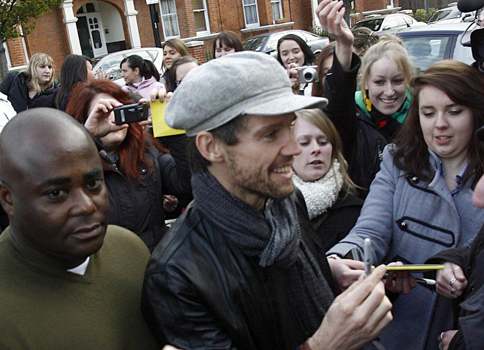Take That's Jason Orange arriving at the Maida Vale Studios on Delaware Road in London, for a BBC Radio 1 Live Lounge session.