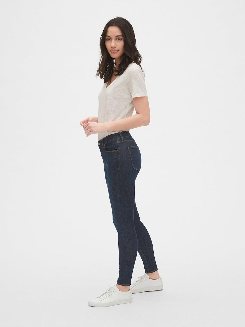 <p>These <span>Gap Mid Rise True Skinny Jeans in Sculpt</span> ($80) will never go out of style.</p>