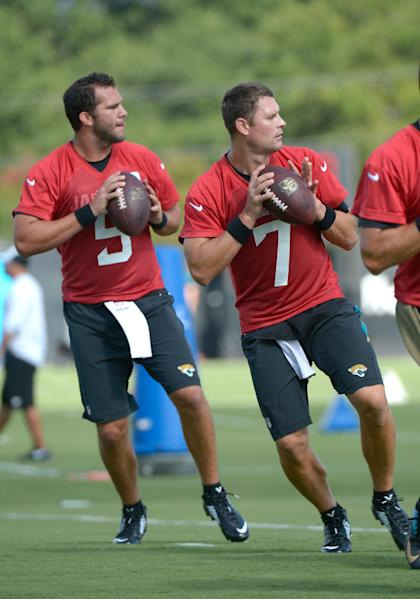 Chad Henne (7) is expected to start Week 1 for the Jaguars. (AP)