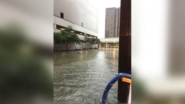 PHOTO: Photos that Lakewood Church says show flooding in and around the church. (Lakewood Church)