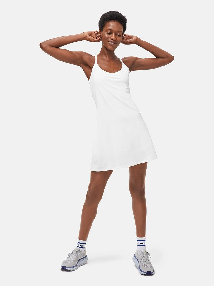 """<p>""""The new <span>Outdoor Voices Exercise Dress</span> ($100) is one of the most sought-after activewear launches this month with a waiting list of over 5,000 people! Updates to this fan-favorite dress includes more pockets (perfect for storing your phone, mask, and keys) and adjustable straps. The comfortable closet staple is sure to be in heavy rotation this summer."""" - GF</p>"""