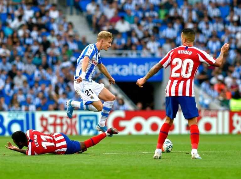Real Sociedad's Martin Odegaard (centre) is on loan from Real Madrid and has been one of La Liga's star performers this season