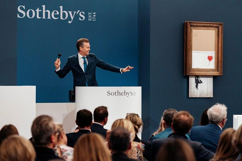 Love Is In The Bin being auctioned (Sotheby's/PA) (PA Media)