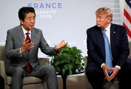Trump, Abe agree on principles of trade deal at G7