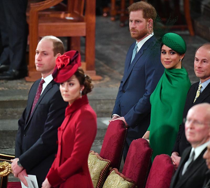 Royal family at the Commonwealth Day Celebrations at Westminster Abbey 2020
