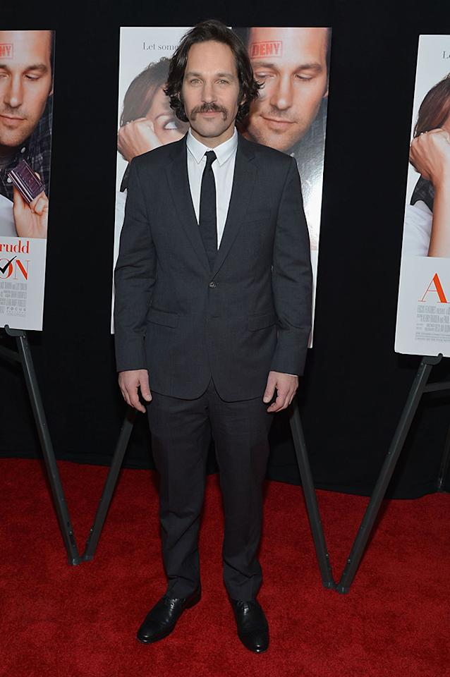 "Paul Rudd attends the ""Admission"" New York Premiere at AMC Loews Lincoln Square 13 on March 5, 2013 in New York City  (Photo by Mike Coppola/Getty Images)"